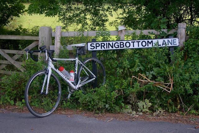 cycling along springbottom lane