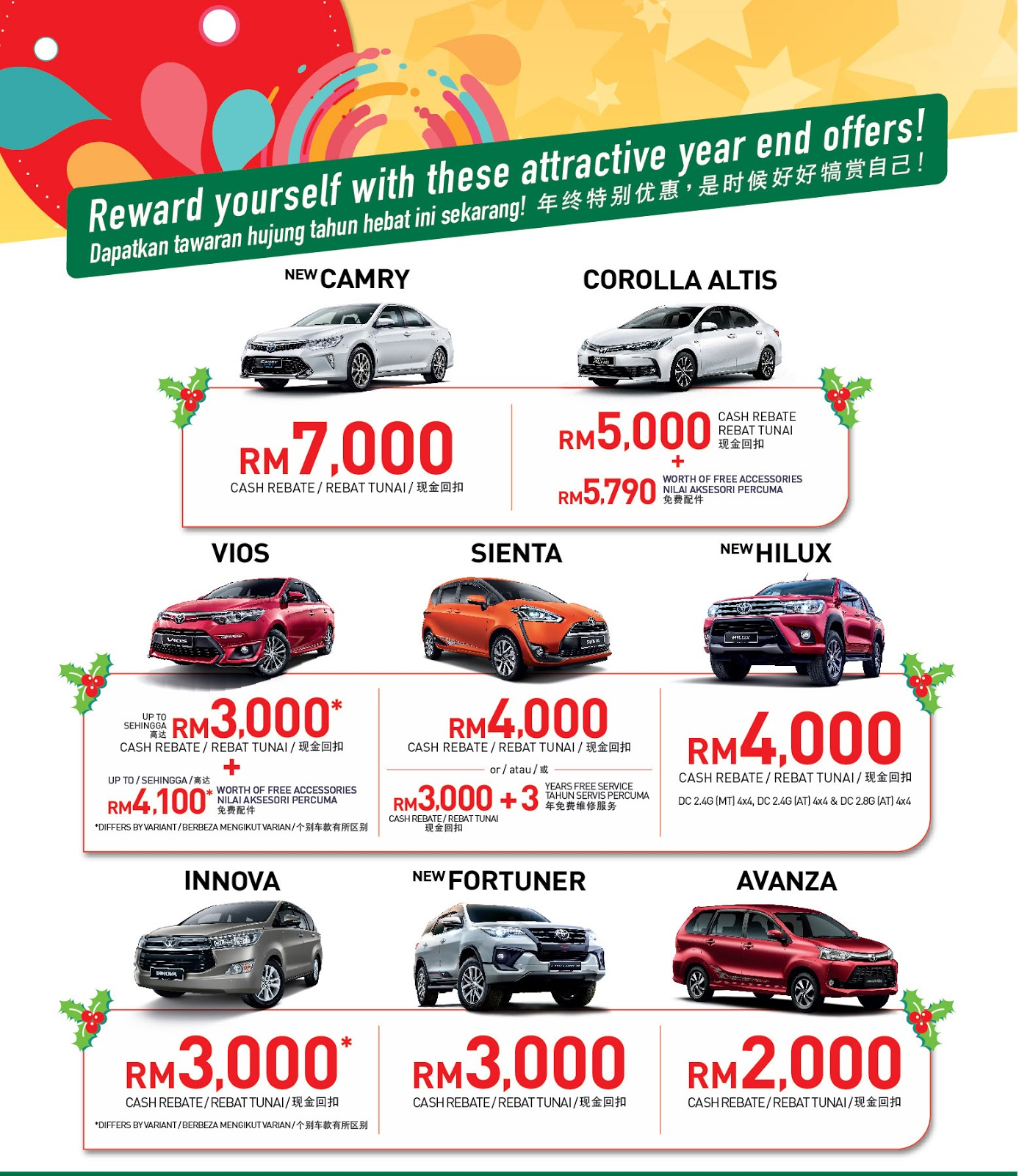 During This Promotion Period Three Lucky Ers Will Also Stand A Chance To Win The Grand Prize Toyota Camry Hybrid 2 5 Another 100