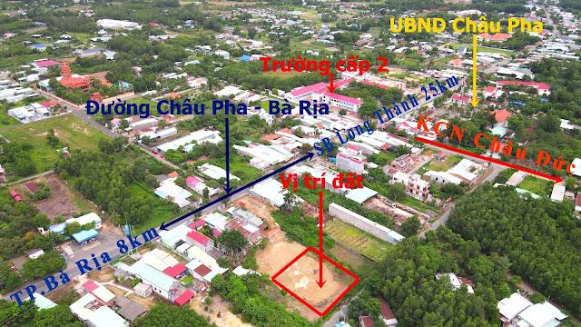 Vị trí 6 lô đất trung tâm Châu Pha Phú Mỹ Bà Rịa