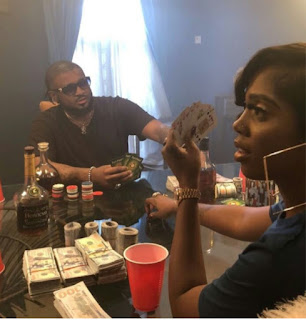 Tiwa Savage pictured gambling