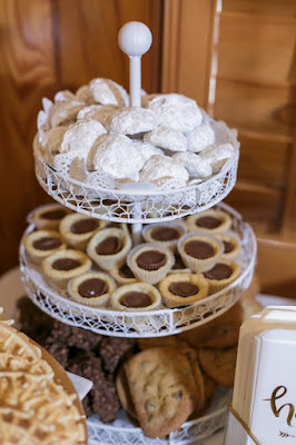 wedding desserts on white tray