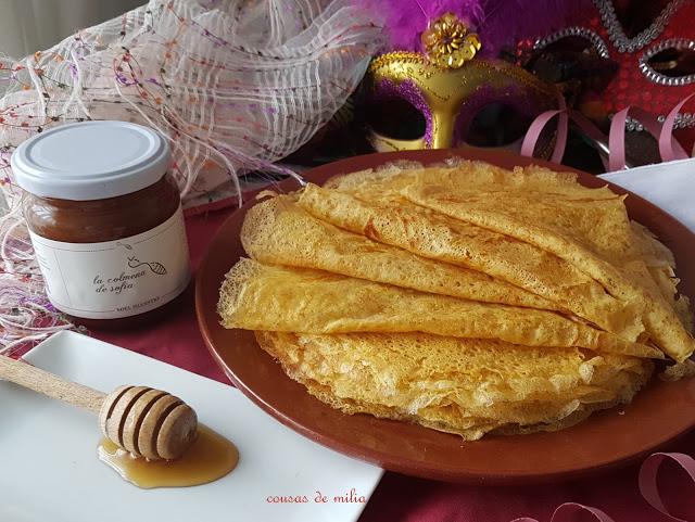 Filloas de harina de maíz, trigo y centeno gallego