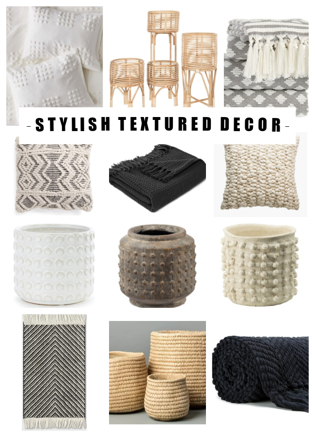 Stylish textured decor