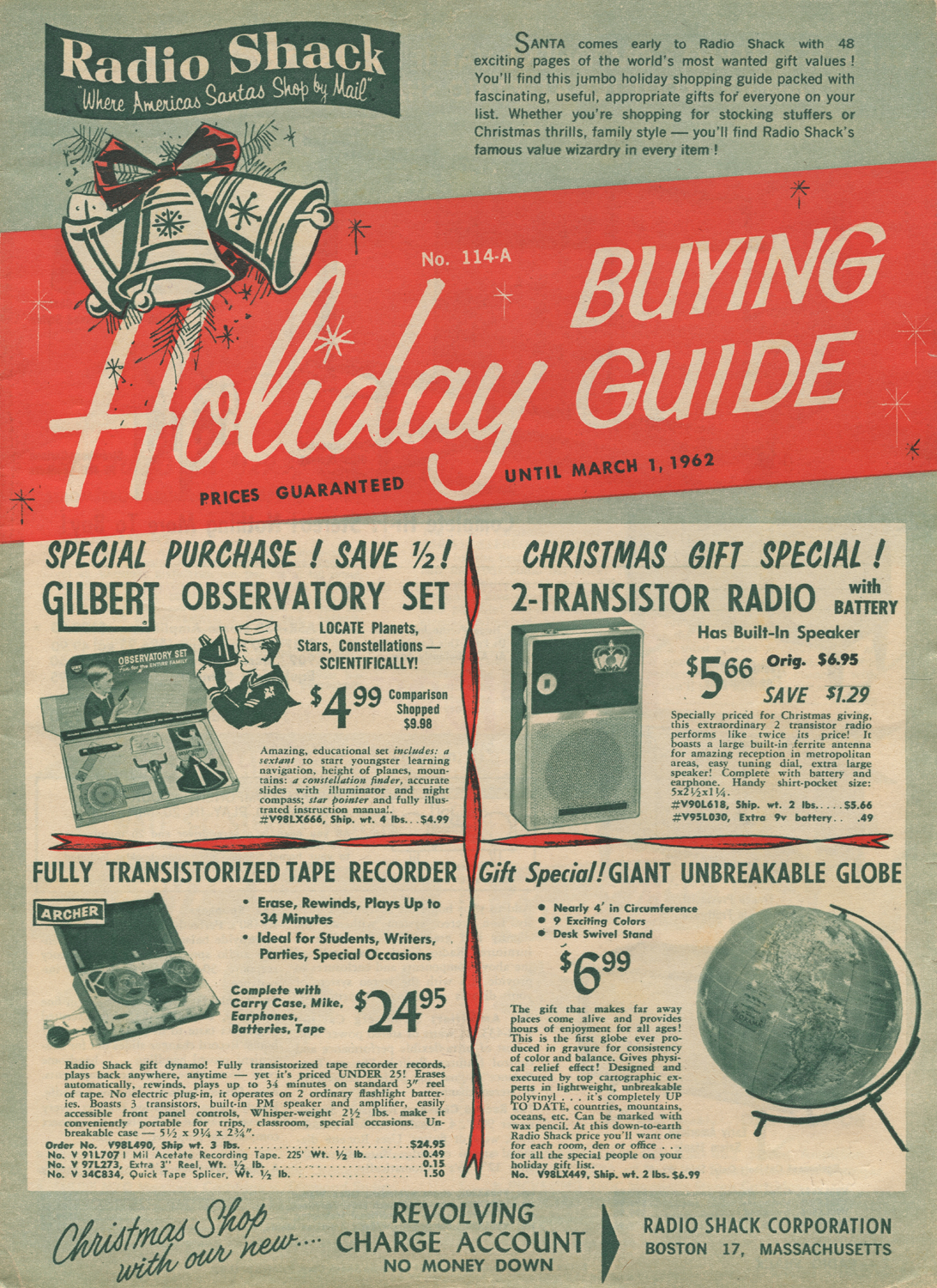 Neato Coolville: HIGHLIGHTS FROM A 1961 RADIO SHACK CHRISTMAS CATALOG
