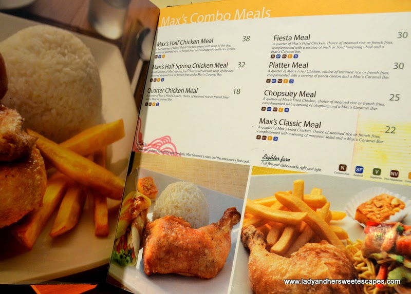 Max S World Cafe Menu