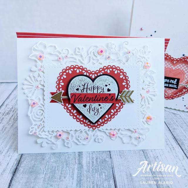 carte avec La collection Du fond du coeur Stampin' Up! mini catalogue 2020