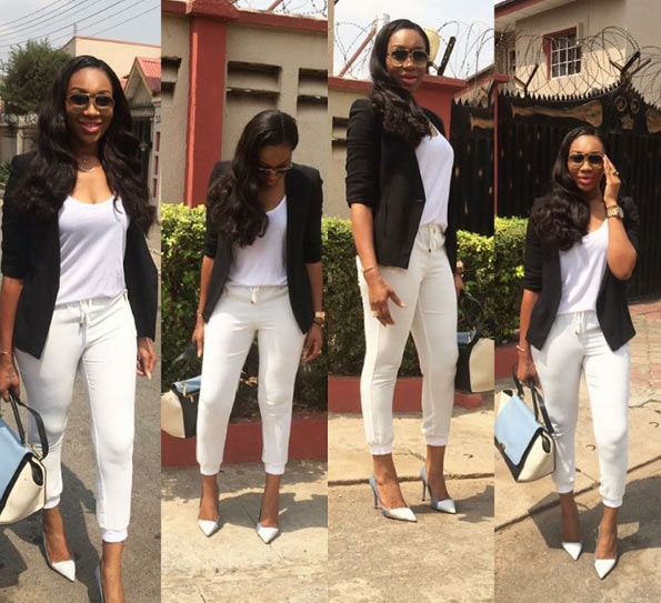 Ebube Nwagbo steps out in coporate