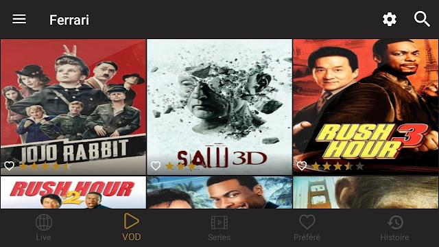 تطبيق Ferrari mobile iptv مع كود تفعيل صالح لمشاهدة جميع القنوات المشفرة العربية و الاجنبية والأفلام مجانا 2020