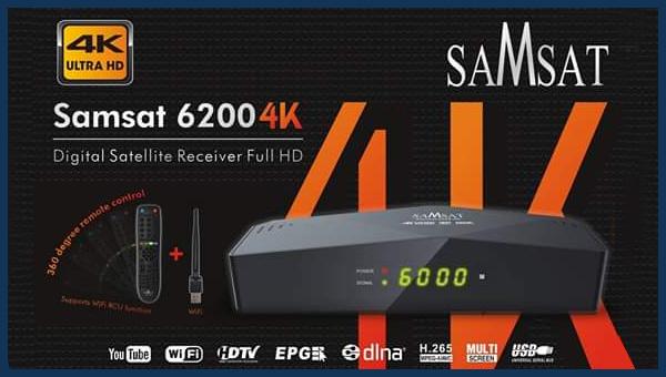 كل شيء عن جهاز Samsat 6200 4K الجديد | مواصفات اشتراكات فلاش ثمن