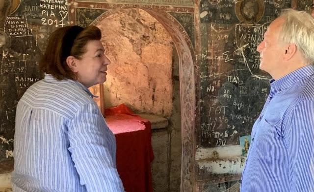 Μενδώνη και Ανδριανός επισκέφθηκαν το Βυζαντινό Κάστρο της Πιάδας στην Νέα Επίδαυρο