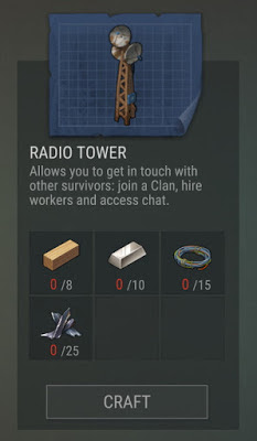 How to build a Radio Tower in Last Day on Earth: Survival