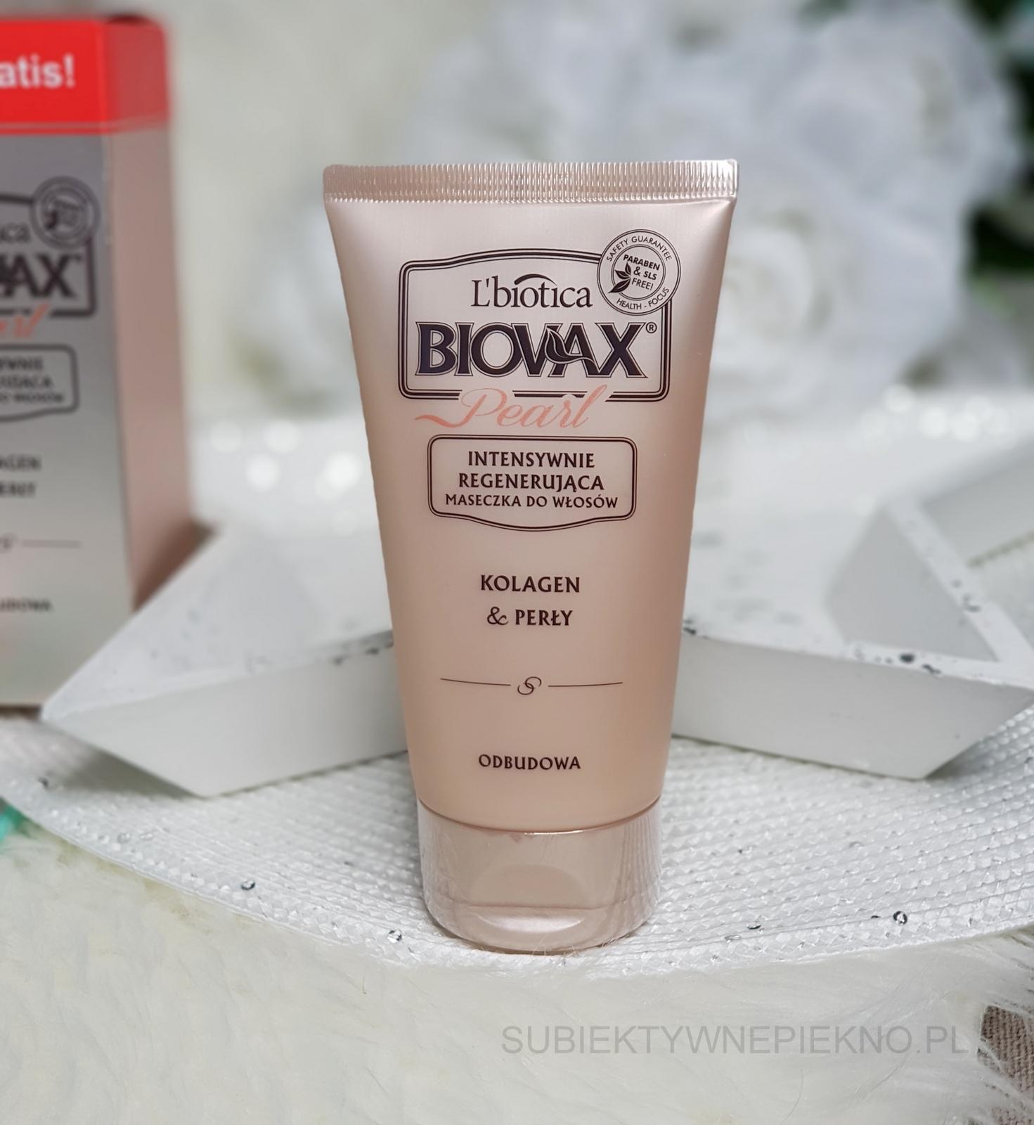 Intensywnie regenerująca maseczka do włosów L'Biotica Biovax Pearl Kolagen i perły - blog, opinie