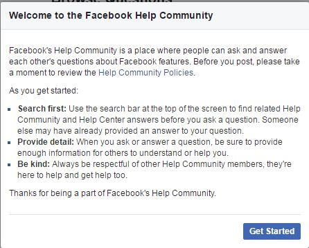 What is Facebook Help Community