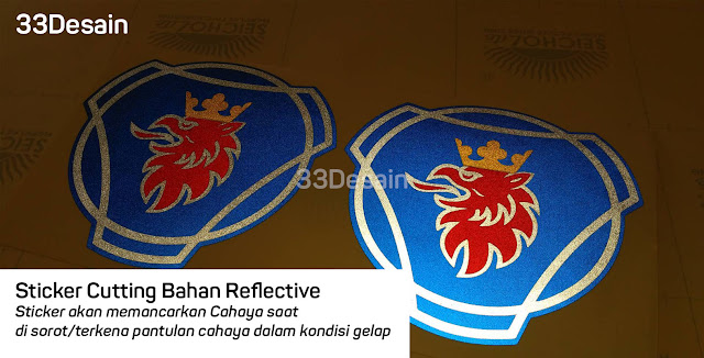 Sticker Cutting Reflective - Sticker Nyala - 33Desain