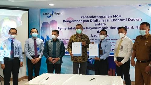MoU Dengan Bank Nagari, Pemko Payakumbuh Terapkan 3 Transaksi E-Retribusi, Semakin Transparan