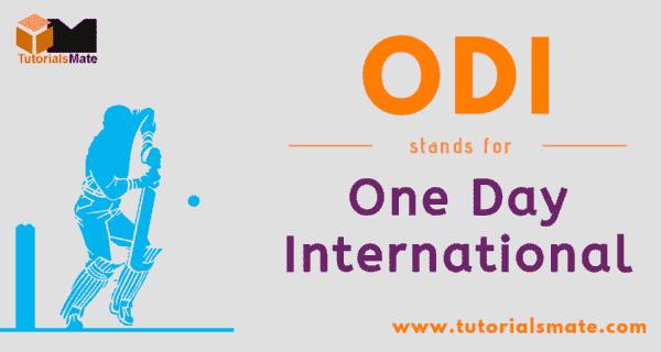 ODI Full Form