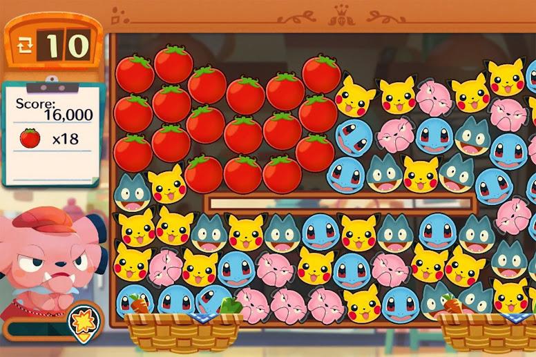Pokémon Café Mix - Exemplo de fase do jogo