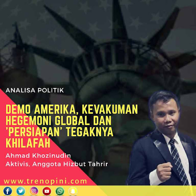 Kegagalan peradaban Kapitalisme ini, menjadikan dunia khususnya Umat Islam berfikir ulang tentang masa depan dan kebangkitannya, yang selama ini bersandar dan digantungkan pada harapan palsu demokrasi.