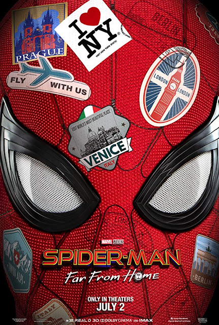"Movie poster for Sony Pictures and Marvel Studios's latest film ""Spider-Man: Far from Home,"" directed by Jon Watts"
