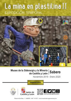 cartel, exposición, plastilina, minería, museo, siderurgia, Sabero