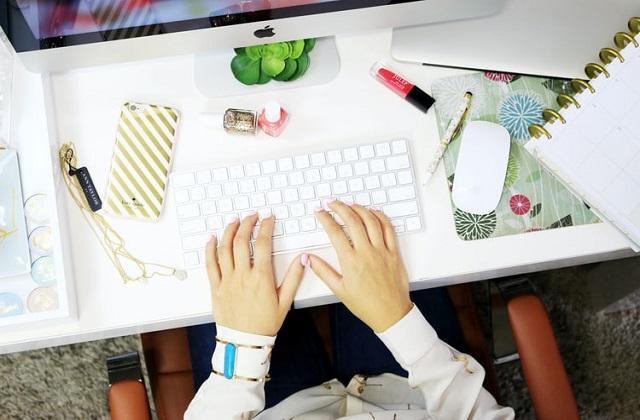 work desk laptop