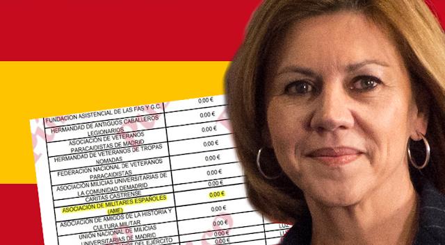 Cospedal subvenciona a una asociación de militares franquistas, según revela Público