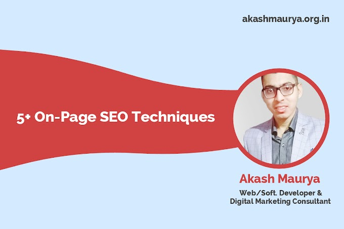5+ On Page SEO Techniques for beginners