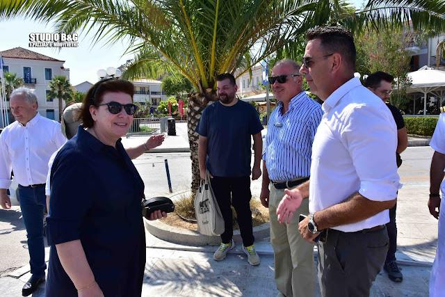 Επίσκεψη στην Αργολίδα της Υπουργού Πολιτισμού Λίνας Μενδώνη