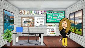 Virtual Math Classroom Decor