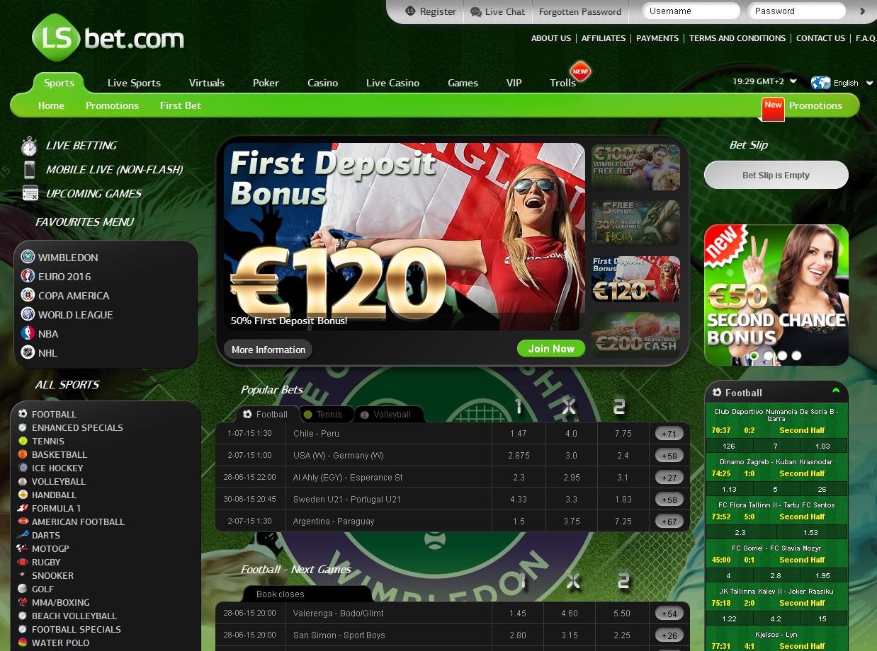 LSBet Sportsbook Screenshot