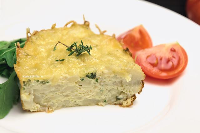 Диетическая запеканка из цветной капусты в духовке с сыром и яйцом: рецепт с фото