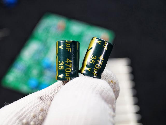 Конденсаторы гибридного усилителя на лампе 6J1 (6Ж1П) и микросхеме LM1875T
