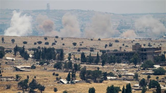 Israel airstrikes hit Syrian army positions in Golan Heights for 2nd day