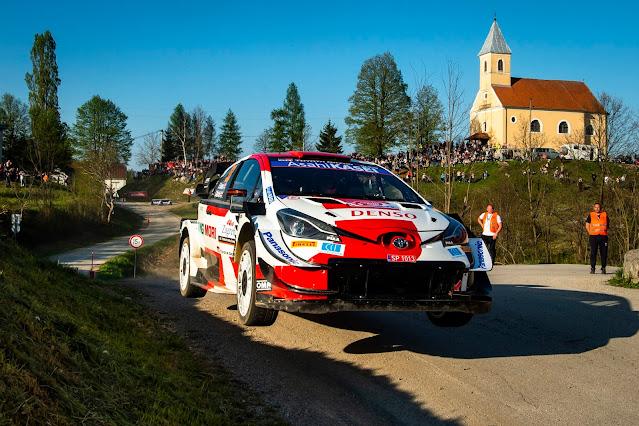 toyota rally car jumping