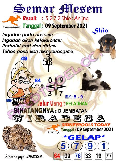 Prediksi Syair Semar Mesem Sdy Kamis 09 September 2021