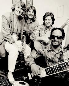 Geraldine Allen, Sarah Rodgers, Timothy Walker and Baluji Shrivastav in 1992 (Photo Roy Cuckow0