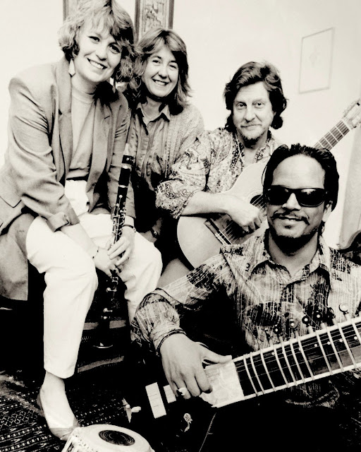 Geraldine Allen, Sarah Rodgers, Timothy Walker and Baluji Shrivastav in 1992 (Photo Roy Cuckow0