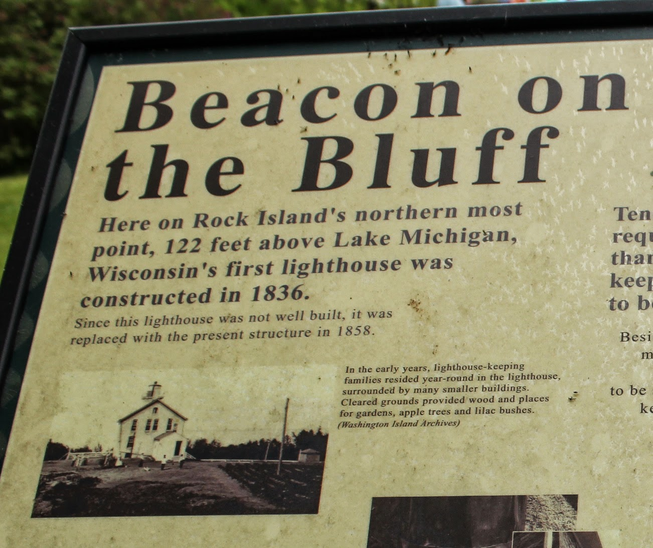 Wisconsin Historical Markers: Beacon on the Bluff