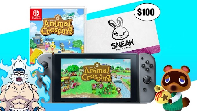 SORTEIO De Um Nintendo Switch + jogo Animal Crossing + Gift Card de R$ 520 Reais!