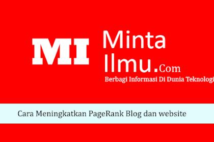 Cara Meningkatkan PageRank Blog dan website