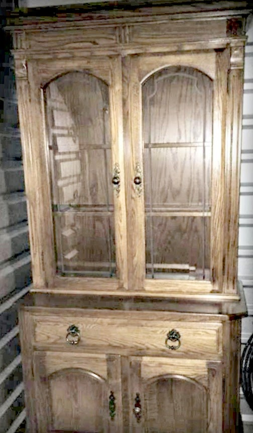 old brown hutch