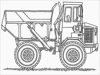 chuck the dump truck coloring pages