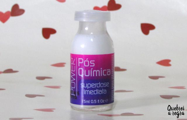 Ampola Superdose Imediata da Yenzah: Whey Fit Cream, Queratina e Pós-Química