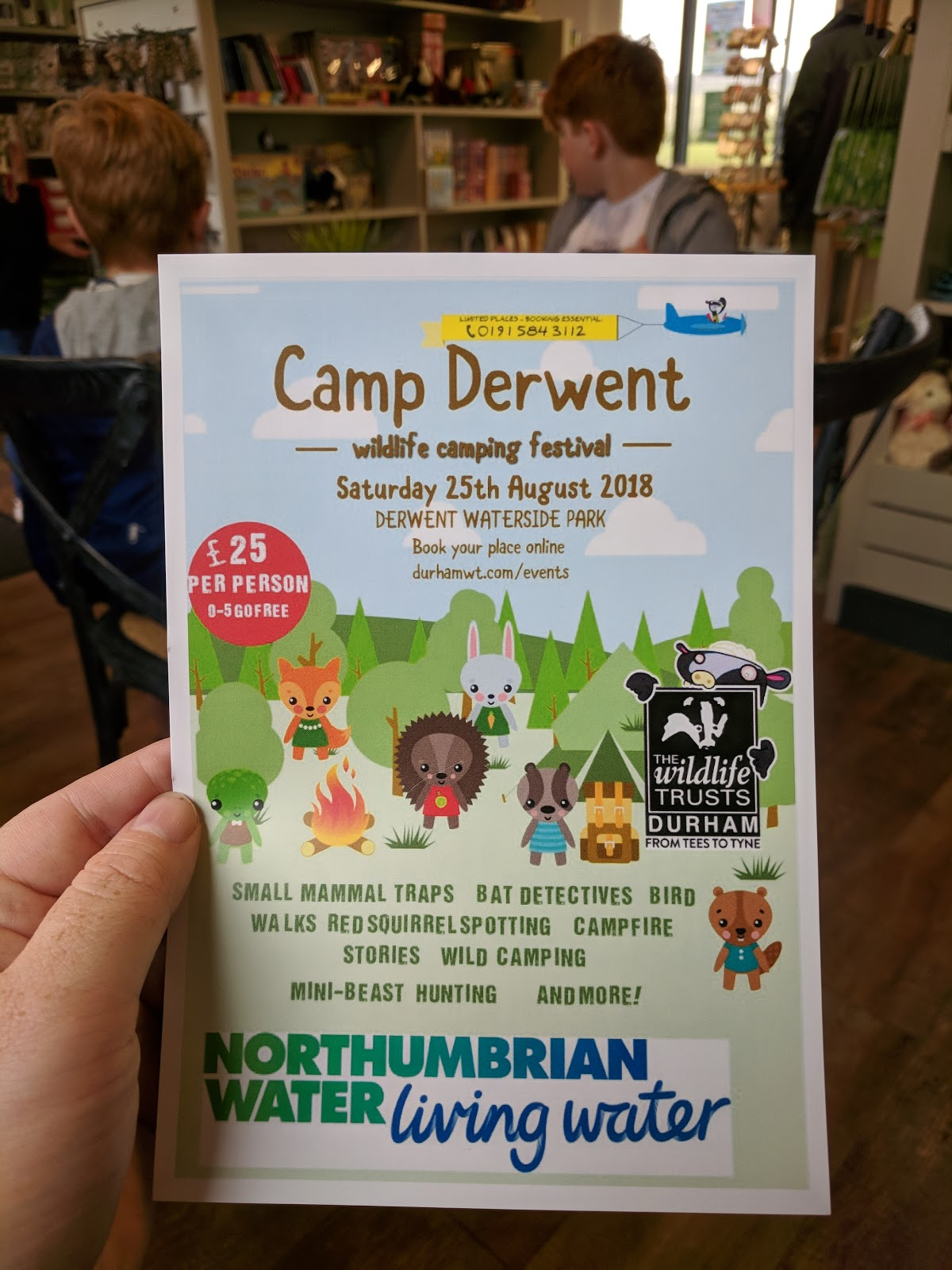 FREE Nature Trail at Derwent Waterside Park, Consett  - camp derwent wild camping
