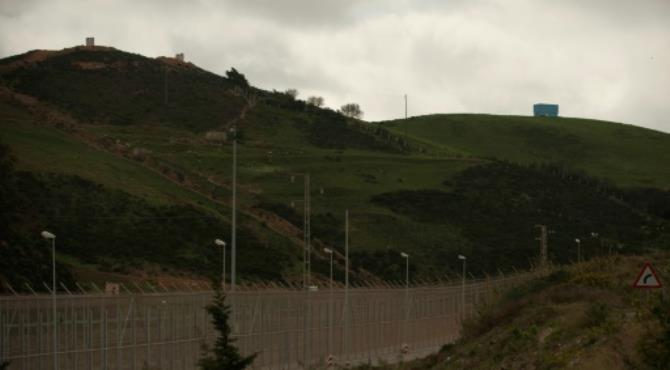 The six-metre tall border fence that divides Morocco and the Spanish enclave of Ceuta. By Jorge Guerrero (AFP/File)