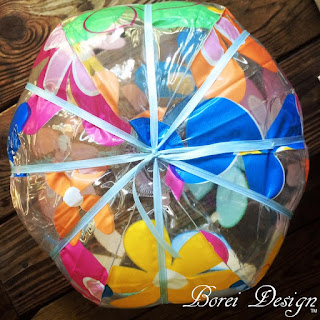 how-to-make-a-beach-ball-paper-mache-jack-o-lantern-pumpkin
