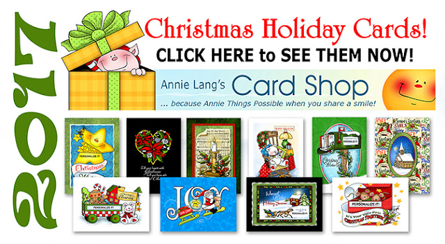 Find Annie Lang's NEW Holiday cards and more at http://www.anniethingspossible.com/christmas-cards