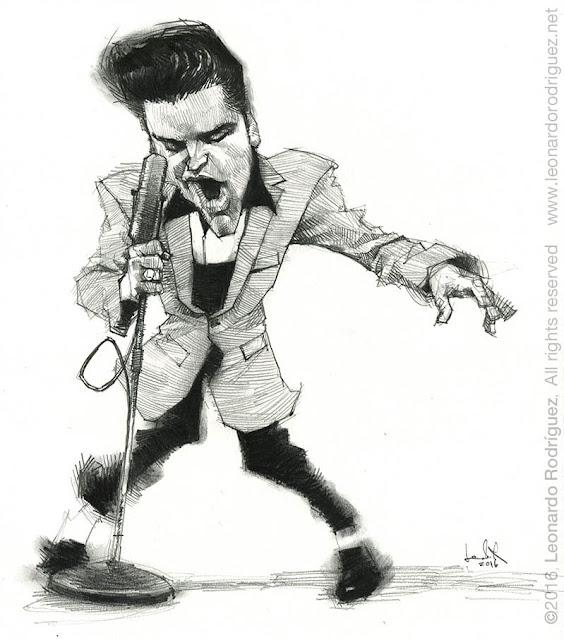 caricatures in spain  Elvis Presley
