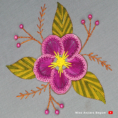 Beautiful flower embroidery for your attractive fabrics, how to embroider a flower on fabric easily