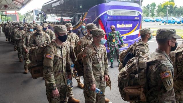 330 Tentara AS Tiba di Palembang Ikuti Latihan Garuda Shield ke 15/2021 bersama TNI